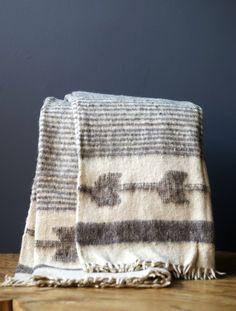 Momostenango 100% Wool Blanket Grey