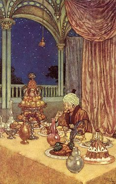 Edmund Dulac «Beauty and the Beast».