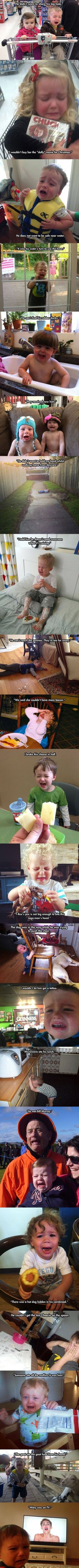 Humor Discover The reasons why these kids cry are hilarious Crazy Funny Memes, Really Funny Memes, Stupid Funny Memes, Funny Relatable Memes, Haha Funny, Funny Posts, Funny Cute, Funny Shit, Funny Stuff