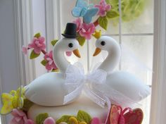 Wedding Cake Toppers - Swans