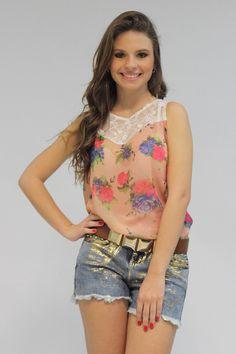 Blusa Floral R$ 53,90