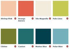 Image result for mid century colours