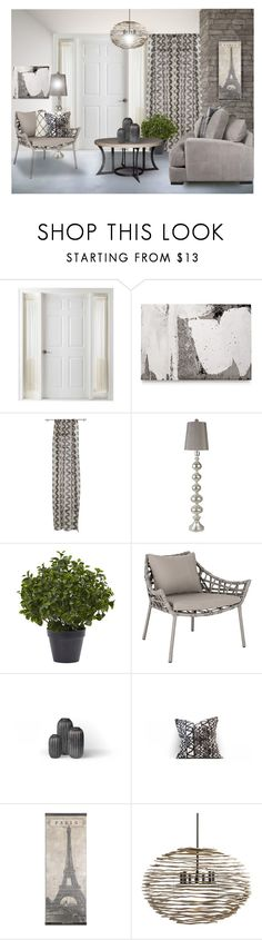 """""""Small Spaces"""" by kwaldrip ❤ liked on Polyvore featuring interior, interiors, interior design, home, home decor, interior decorating, Liz Claiborne, Lyon Béton, CB2 and Surya"""