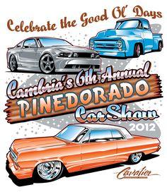 Pinedorado Car Show Shirt Art, 2012