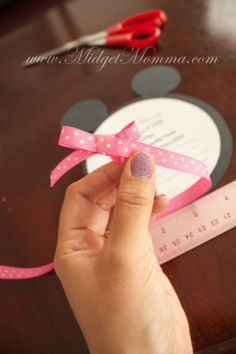 Do It Yourself Minnie Mouse Invitations Perfect for a Minnie Mouse Birthday Party and easy to personalize since they are Do it yourself invitations