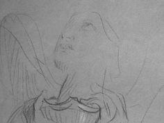 CHASSERIAU Théodore,1843 - Ste Marie l'Egyptienne, Légende, Etude pour l'Eglise St-Merri - drawing - Détail 01