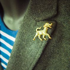 Puppy dog Brooch antique vintage styled, bridesmaid, rhinestone diamante, wedding, mothers gift, men lapel, enamel, hijab #5112