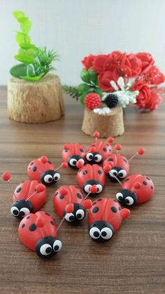 Air Dry Clay, Clay Crafts, Biscuits, Polymer Clay, Picnic, Octopus, Cold Porcelain Ornaments, Refrigerator Magnets, Kawaii Accessories