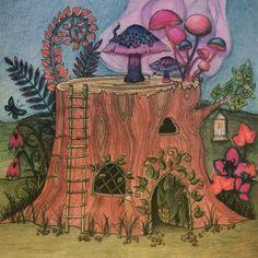 Enchanted Forest By Johanna Basford Hidden Owl