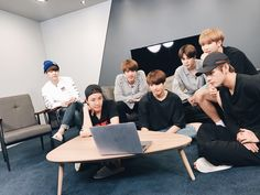 Yoongi always sits like that... does he HAVE BALLS