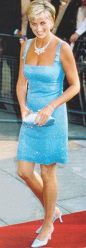 Princess Diana at the English National Ballet production of Swan Lake at the Royal Albert Hall, June 1997