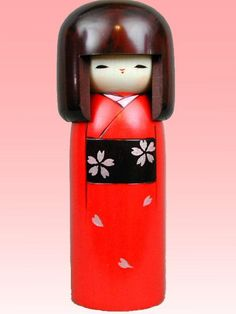 This is Kokeshi.  Kokeshi has been made by the end of Edo period(about 1850~).  It has been loved by many Japanese people as souvenir.  In the Edo period( 1603 to 1868), there are many farmers.  When they take a lest, most farmers went to hot-springs.  And they bought Kokeshi for souvenir.  Kokeshi influences surprising thing.