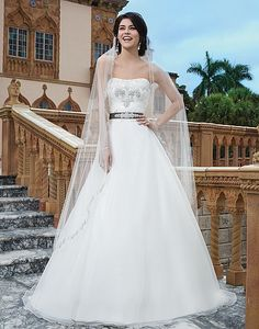 Style 3834: Organza, venice lace ball gown featuring a sweetheart neckline | Sincerity Bridal