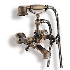 Antik Badkar och dusch Handdusch inkluderad with Keramisk Ventil Två  handtag två hål for Antik mässing ee6141e64600c