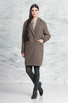 Пальто из итальянской шерсти Colors Of Papaya. Пальто 2017 весна  #пальто #2017 #весна #модные #colorsofpapaya #женское #выкройка #мода #тенденции #зима #дизайнерская #одежда