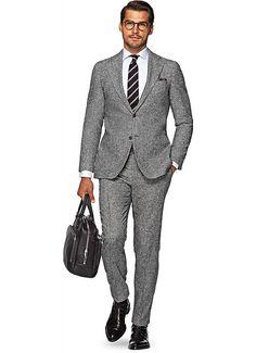Suit Grey Pied De Poule Hudson P4723i   Suitsupply Online Store