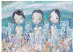 Floating Flowers by Jacqueline MyersCho by CharliesSpot on Etsy, $50.00