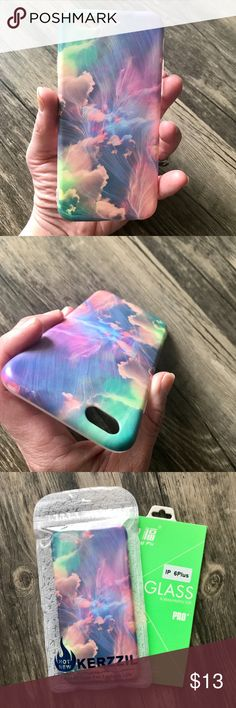 NEW Painted Sky iPhone 6/6s Plus IMD Soft TPU Case ▪️High Quality Soft Shock- Resistant TPU     ▪️IMD In-Mould Printed So Decoration Cannot Fade     ▪️FREE New Glass Screen Protector Included !     ▪️Same or Next Business Day Shipping Accessories Phone Cases