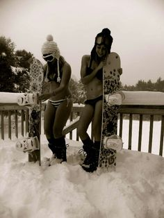 snowboarding in a bikini...yup..once. ahh the good ol days!!