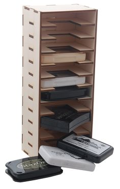Ink pad storage tower for Stazon, Adirondack, Archival ink