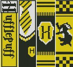 Pixel Art Harry Potter, Harry Potter Perler Beads, Cross Stitch Harry Potter, Harry Potter Bookmark, Harry Potter Crochet, Harry Potter Diy, Cross Stitch Bookmarks, Cross Stitch Kits, Cross Stitch Patterns