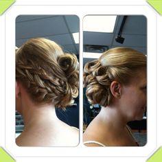 Fun updo with braids