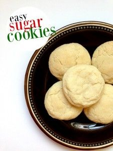 Sugar cookies are classic for the Christmas season. They're basic (but not in a bad way!) and can be eaten plain or jazzed up with icing and sprinkles.