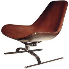 KOI Isola Leather Swivel Chair