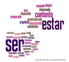 A2 - SER y ESTAR Algunos usos de estos dos verbos que significan  SEIN