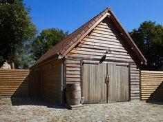 Houten Garage, Houten Carport in Eik, Lariks > Cottage | Bogarden