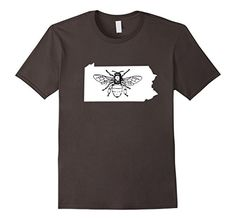 State Beekeeping T-Shirts Pennsylvania Bee Lover Shirt, Beekeeper T Shirt, Beekeeping Have beekeeping in your blood and on your brain? This I Love Bees shirt is perfect for you. The beekeeper in your life will love this shirt whether they are an amateur beekeeper or professional. If you keep honeybees for fun or to help save the bees or showing that all hives matter. Everyone from honeybees to drones to queen bees will love the funny honey this shirt brings.