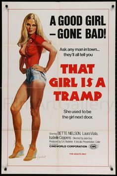 That Girl Is A Tramp Best Movie Posters, Classic Movie Posters, Cinema Posters, Movie Poster Art, Arte Do Pulp Fiction, Sci Fi Horror Movies, Cult Movies, Dibujos Pin Up, Comic Art Girls
