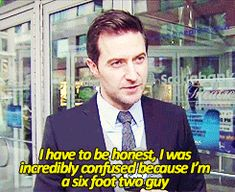 """Richard Armitage on being cast in """"The Hobbit"""" [gif] I would be shocked too."""