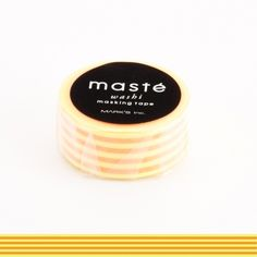 WASHI TAPE MASTÉ NEON HORIZONTAL STRIPE LARANJA