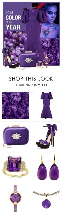 """""""Ultra Violet Night Life"""" by lois-boyce-flack ❤ liked on Polyvore featuring Sanders, Bambah, Badgley Mischka, Effy Jewelry and Color My Life"""