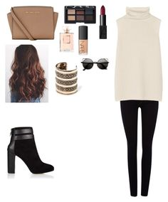 """""""Untitled #77"""" by skinnylove777 ❤ liked on Polyvore featuring True Religion, The Row, Coye Nokes, MICHAEL Michael Kors, MANGO and NARS Cosmetics"""