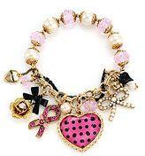 Betsey Johnson Breast Cancer Awareness Stretch Bracelet