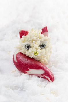 Les renards des neiges - Cake pops de Noël
