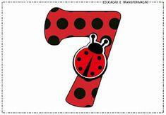 """Blog Educação e Transformação: 👍Números com o tema """"Joaninha"""" Ladybug Party Foods, Ladybug Cakes, Cumpleaños Lady Bug, Miraculous Ladybug Party, Lady Bob, Cake Decorating Videos, Classroom Decor, Tigger, Scooby Doo"""
