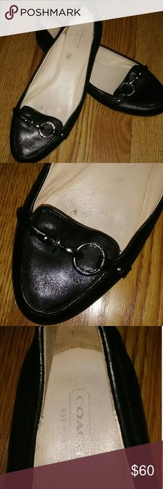 Coach Flats Alice Logo Good condition Some scuffing on the toes Size 9 B Coach Shoes Slippers