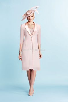 2015 Mother Of The Bride Dresses Sheath Knee Length Pink Applique Beaded With Jacket Evening Dresses Mother Dresses For Weddings-in Mother of the Bride Dresses from Weddings & Events on Aliexpress.com | Alibaba Group