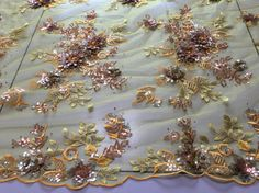 gold African Lace, Saree Dress, Tulle Fabric, Embroidery Applique, Red Gold, Red Roses, Sequins, Yellow, Dresses