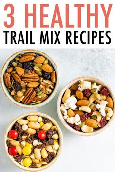 Learn how to make healthy trail mix with this foolproof method   3 easy recipes. Trail mix is such an easy and delicious snack to make at home with just a few key ingredients. Try all three healthy trail mix recipes! Omega Trail Mix, Monster Trail Mix and Popcorn Trail Mix. Gluten-free   easily vegan. #trailmix #healthy #snack #glutenfree #eatingbirdfood #vegan Healthy Popsicles, Healthy Meal Prep, Healthy Snacks For Kids, Vegan Snacks, Easy Dinner Recipes, Easy Recipes, Healthy Recipes, Trail Mix Recipes, Snacks To Make