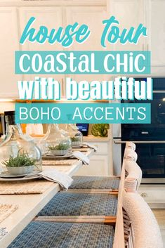 Coastal Chic design with tons of beach house decor ideas. Neutral colored furniture with pops of subtle coastal blues and greens. Light wood furniture is featured throughout with a classy chic touch. This model home in the Beach Walk neighborhood in Ponte Vedra, Florida is a dream beach inspired design. Beach House Bedroom, Beach House Decor, Beach Cottage Style, Coastal Style, Dream Beach Houses, Beach Aesthetic, Farmhouse Style Decorating, Beach Walk, Classy Chic