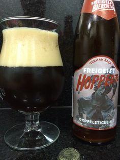Cerveja Freigeist Hoppeditz Altbier, estilo Altbier, produzida por Braustelle, Alemanha. 7.5% ABV de álcool.