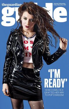 Charli XCX in vinyl jacket and miniskirt Charli Xcx, Latex Costumes, Vintage Underwear, Ladies Gents, Hollywood, Latex Girls, Leather Dresses, Girl Gang, Celebs