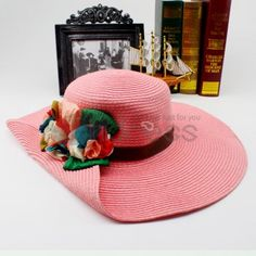 straw hats with flowers | Straw Hats-dimensional flowers straw hat