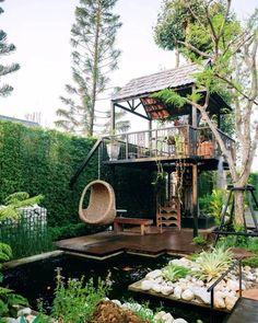 Small Garden Landscape, Landscape Design, Small Garden Design, Backyard Patio, Backyard Landscaping, Casas Containers, Garden Cafe, My Dream Home, Exterior Design