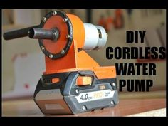 DIY Cordless Water Pump: 6 Steps (with Pictures) Cordless Drill Reviews, Cordless Tools, Diy Water Pump, Peristaltic Pump, Harbor Freight Tools, Drill Guide, 3d Printing Diy, Drill Driver, Outdoor Power Equipment