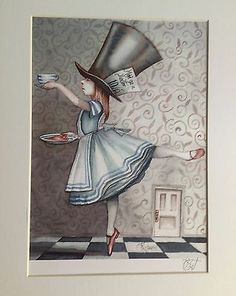 Alice In Wonderland Art Ballet Mad Hatter Print Dominic Murphy Art Collectable